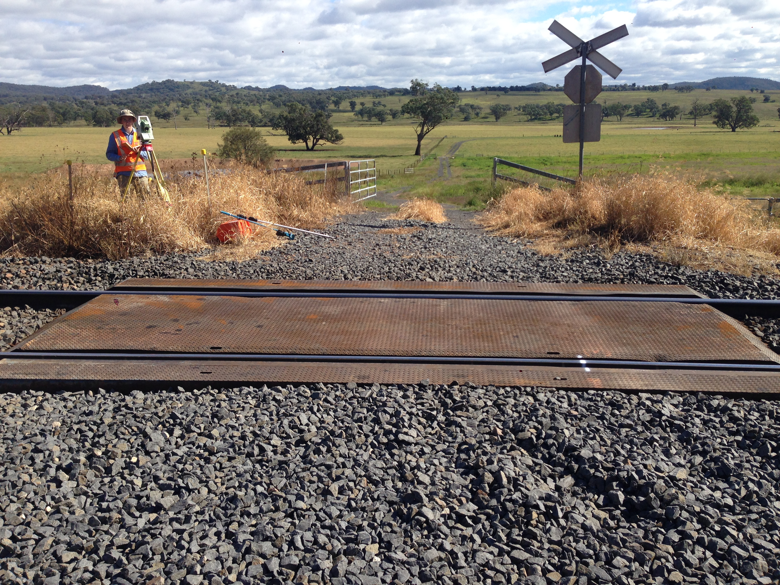 Small level crossing on the Sandy Hollow - Gulgong (Ulan colliery) line