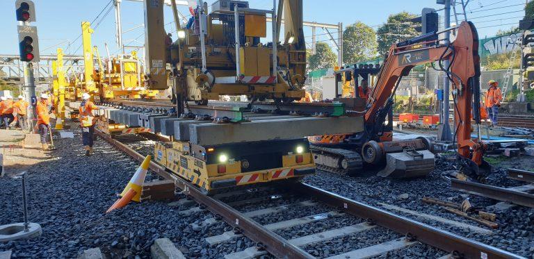 sydenham junction sydney metro turnout install
