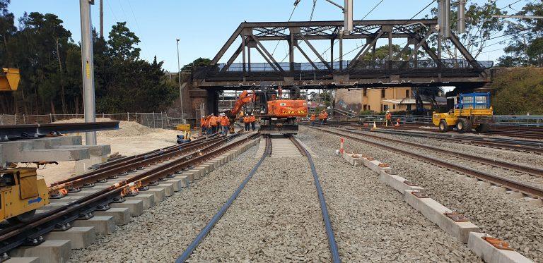 sydney metro sydenham junction rail construction